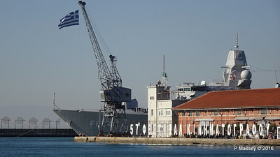 HNLMS DE RUYTER F804 Pier A Departing Thessaloniki PDM 01-11-2016 10-21-25