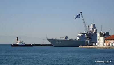 HNLMS DE RUYTER F804 Pier A Departing Thessaloniki PDM 01-11-2016 10-22-18