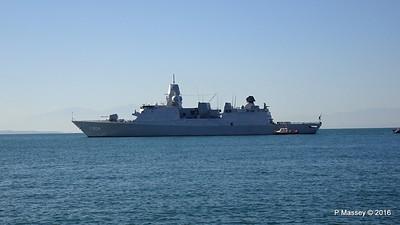 HNLMS DE RUYTER departing Thessaloniki PDM 01-11-2016 10-24-57