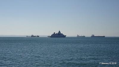 HNLMS DE RUYTER departing Thessaloniki Thermaikos Gulf PDM 01-11-2016 10-30-30