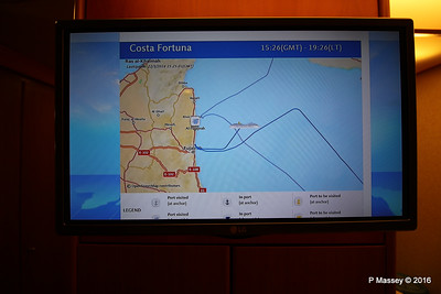 In Cabin TV Ship Voyage Information COSTA FORTUNA PDM 22-03-2016 19-31-05