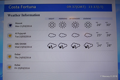 In Cabin TV Weather Information COSTA FORTUNA PDM 21-03-2016 13-41-27
