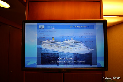 In Cabin TV Ship Voyage Information COSTA FORTUNA PDM 22-03-2016 19-31-11