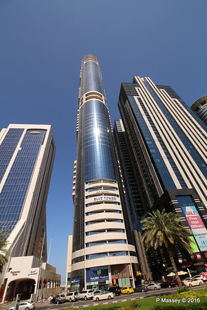 Blue Tower Latifa Towers Sheikh Zayed Rd Skyscrapers Dubai PDM 24-03-2016 10-20-42