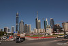 Sheikh Zayed Rd Skyscrapers Conrad Ibis One Central from Al Sa'ada Rd Dubai PDM 24-03-2016 10-51-02
