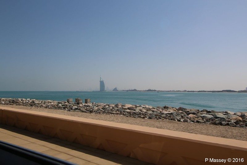 Burj Al Arab Khalifa Jumeirah Beach Hotel from Crescent East The Palm Jumeirah Dubai PDM 25-03-2016 10-17-50