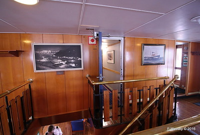 Fwd Stairwell Boat Deck LOFOTEN Longyearbyen in Spitsbergen during winter given to LOFOTEN at the time of her first visit in 1968
