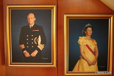 King Harald V Queen Sonja of Norway Fwd Stairwell LOFOTEN PDM 27-07-2016 17-47-03