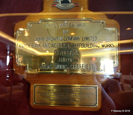 one third scale Builder's Plate RMS QUEEN MARY Hull 534 John Brown & Co Commodore Club QM2 16-07-2016 10-39-20