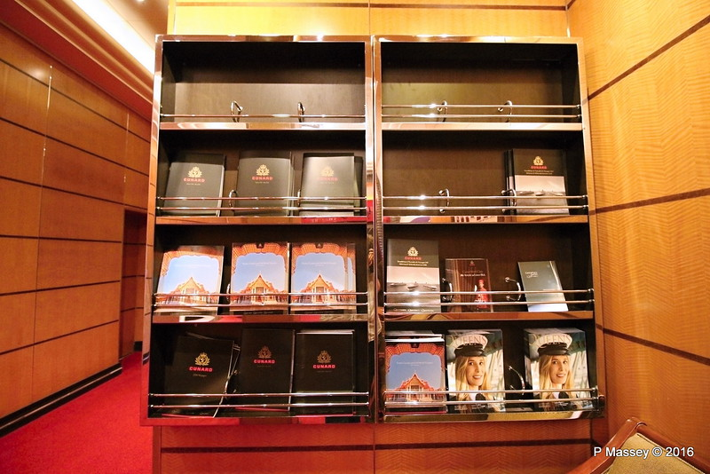 Brochures by Voyage Sales Office Deck 2 port QUEEN MARY 2 14-07-2016 08-07-20