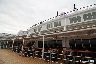 Looking Up from Deck 8 Aft Terrace Pool QM2 15-07-2016 17-54-03