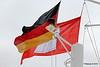 The German & City of Hamburg Flags QM2 15-07-2016 16-27-56