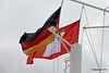 The German & City of Hamburg Flags QM2 15-07-2016 16-27-59
