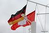The German & City of Hamburg Flags QM2 15-07-2016 16-27-57