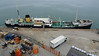 Lorries Delivering Stores QM2 ss SHIELDHALL Ocean Terminal Southampton PDM 17-07-2016 07-13-47