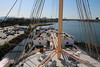 Forecastle Well Deck 3rd Class Passenger Deck around Mast QUEEN MARY Long Beach 19-04-2017 16-34-030