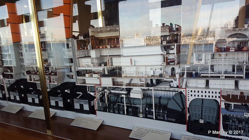 Cutaway RMS LUSITANIA Model Gallery Promenade Deck QUEEN MARY Long Beach 17-04-2017 17-28-49