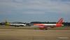 Monarch A320 G-OZBW easyJet A319 G-EZL LGW PDM 07-07-2017 16-58-51