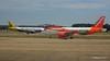Monarch A320 G-OZBW easyJet A319 G-EZL LGW PDM 07-07-2017 16-58-49