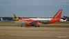 Monarch A320 G-OZBW easyJet A319 G-EZL LGW PDM 07-07-2017 16-58-44