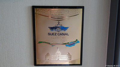 New Suez Canal Plaque August 2014 - 2015 build BOUDICCA PDM 07-12-2017 08-15-26