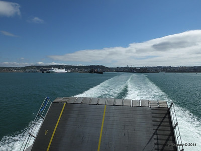 Departing Cherbourg aboard NORMANDIE EXPRESS PDM 14-07-2014 16-02-43