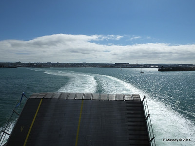 Departing Cherbourg aboard NORMANDIE EXPRESS PDM 14-07-2014 16-04-16