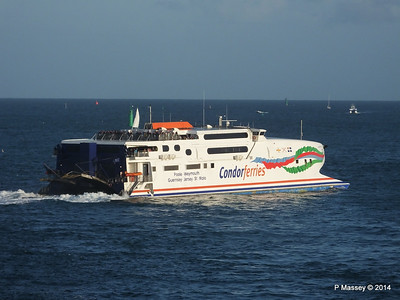 CONDOR RAPIDE Departing St Malo PDM 11-08-2014 07-00-47
