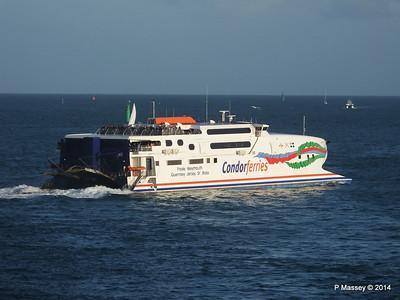 CONDOR RAPIDE Departing St Malo 11 Aug 2014