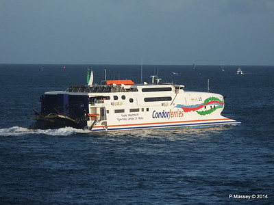 CONDOR RAPIDE Departing St Malo 11 Aug 2014