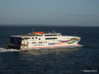 CONDOR RAPIDE Departing St Malo PDM 11-08-2014 07-00-02