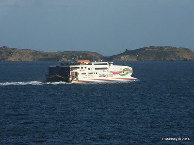 CONDOR RAPIDE Departing St Malo PDM 11-08-2014 07-02-11