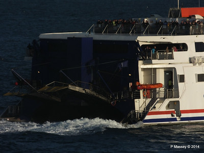 CONDOR RAPIDE Departing St Malo PDM 11-08-2014 07-00-43