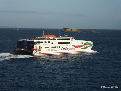 CONDOR RAPIDE Departing St Malo PDM 11-08-2014 07-00-13