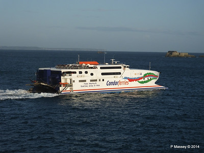 CONDOR RAPIDE Departing St Malo PDM 11-08-2014 07-00-07