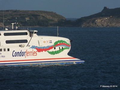 CONDOR RAPIDE Departing St Malo PDM 11-08-2014 07-02-06