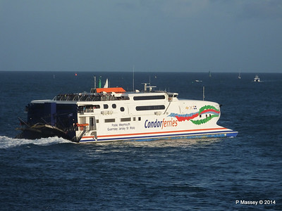 CONDOR RAPIDE Departing St Malo PDM 11-08-2014 07-00-46