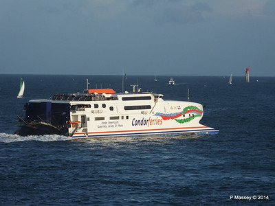 CONDOR RAPIDE Departing St Malo PDM 11-08-2014 07-00-51