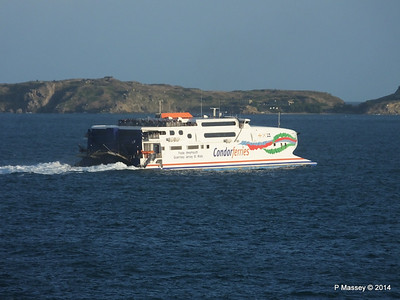 CONDOR RAPIDE Departing St Malo PDM 11-08-2014 07-02-003