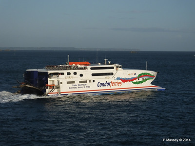 CONDOR RAPIDE Departing St Malo PDM 11-08-2014 07-00-04