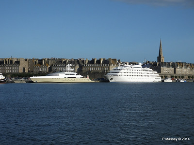 DUBAWI & SMERALDA St Malo 11 Aug 2014