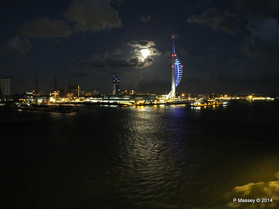 Portsmouth with Spinnaker Tower at Night from BRETAGNE PDM 10-08-2014 21-34-53