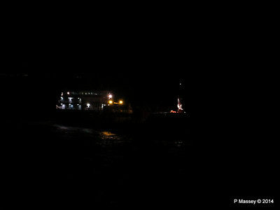 CAROLINE A St Helens Anchorage at Night PDM 10-08-2014 22-04-07