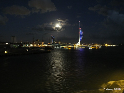 Portsmouth with Spinnaker Tower at Night from BRETAGNE PDM 10-08-2014 21-34-32