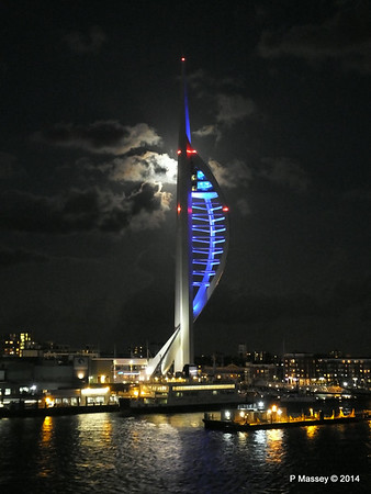 Spinnaker Tower at Night from BRETAGNE PDM 10-08-2014 21-35-014