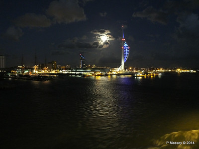 Portsmouth with Spinnaker Tower at Night from BRETAGNE PDM 10-08-2014 21-34-55