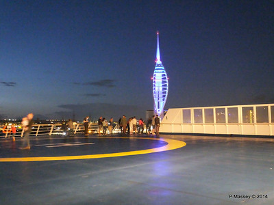 Spinnaker Tower at Night over aft deck BRETAGNE PDM 10-08-2014 21-37-34