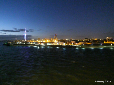 Portsmouth with Spinnaker Tower at Night from BRETAGNE PDM 10-08-2014 21-39-45