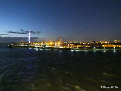 Portsmouth with Spinnaker Tower at Night from BRETAGNE PDM 10-08-2014 21-39-53