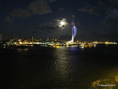 Portsmouth with Spinnaker Tower at Night from BRETAGNE PDM 10-08-2014 21-34-058